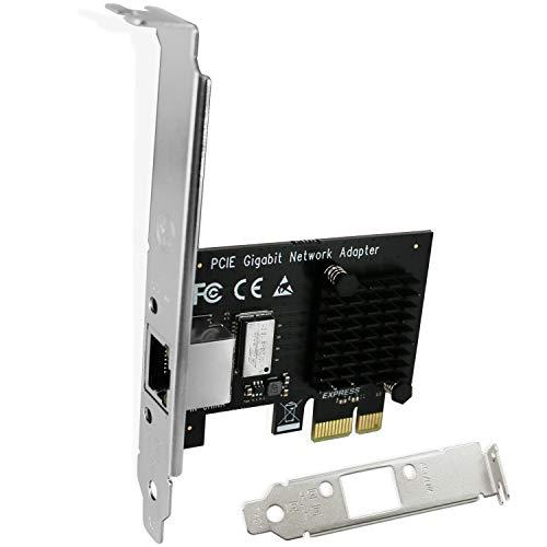 FebSmart PCI Express RJ45 Gigabit Network Interface Controller Adapter for Windows 10,8.1,8,7,Vista,XP(32/64bit) and Windows Server Desktop PCs-PCIE NIC Card-PCIE Gigabit Ethernet Adapter (FS-E1-Pro)