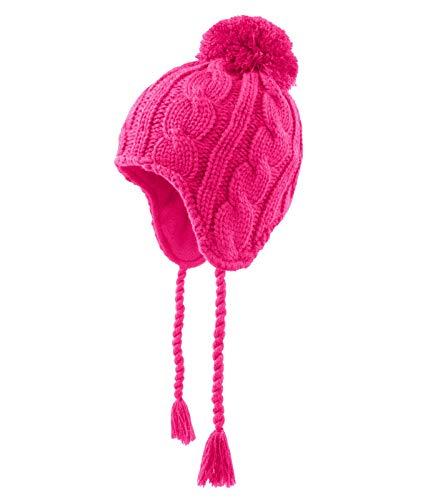 Döll Mädchen Inka Strickmütze Bommel, Größe:55, Präzise Farbe:Pink