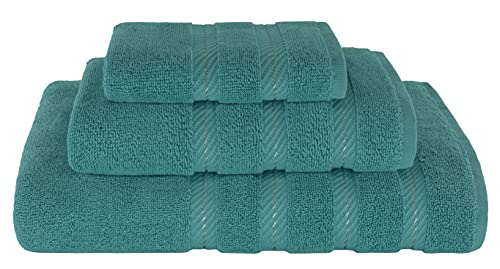 American Soft Linen 3 Piece, Turkish Cotton Premium & Luxury Towels Bathroom Sets, 1 Bath Towel 27x54 inch, 1 Hand Towel 16x28 inch & 1 Washcloth 13x13 inch Colonial Blue