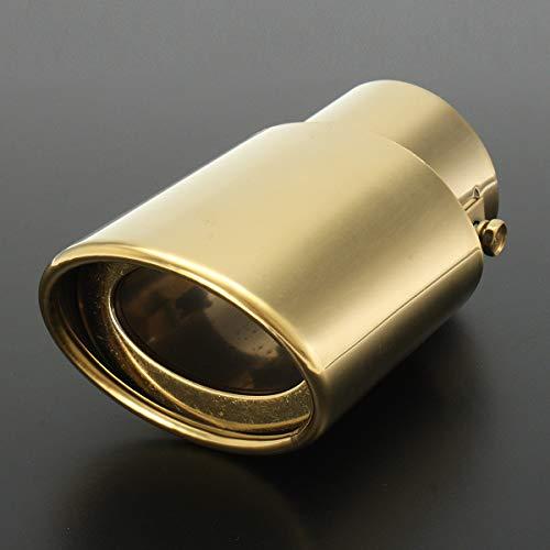 MYAMIA 63Mm Universal Gold en Acier Inoxydable Voiture D'Échappement À L'Arrière Pot Silencieux Tip