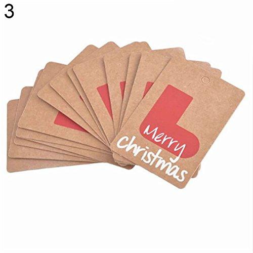 Momangel 50 etiquetas de papel kraft DIY Navidad adornos colgantes papel manualidades etiquetas de regalo etiquetas para colgar etiquetas de boda Navidad Acción de Gracias