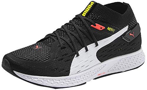 PUMA Speed 500 Zapatillas de Running para Hombre,Negro ( Puma Black-Puma White-Nrgy Red-Yellow Alert ) , 46 EU