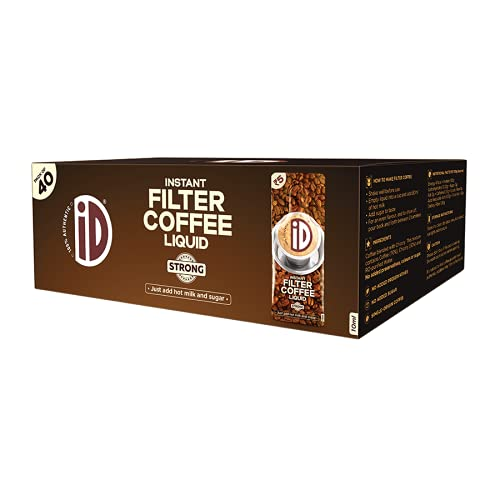 iD Instant Filter Coffee Liquid | Strong | Authentic, Ready to use | 40 Cups | 400ml (10ml x Pack of 40)