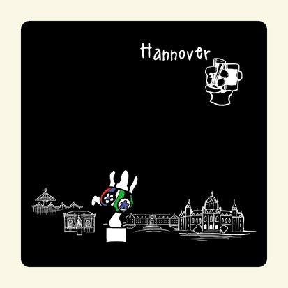 die stadtmeister Untersetzer Skyline Hannover (schwarz) - als Geschenk für Hannoveraner & Fans der Niedersachsenmetropole oder als Hannover Souvenir