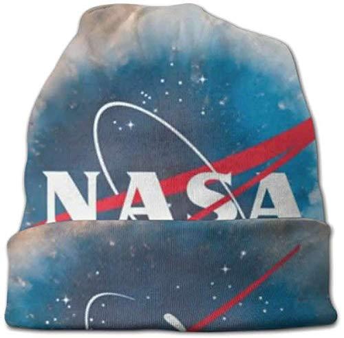 Bonnet Unisexe en Tricot avec Motif Galaxie de la NASA Noir n/ébuleuse de l/'Espace