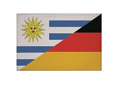 U24 Aufnäher Uruguay-Deutschland Fahne Flagge Aufbügler Patch 9 x 6 cm