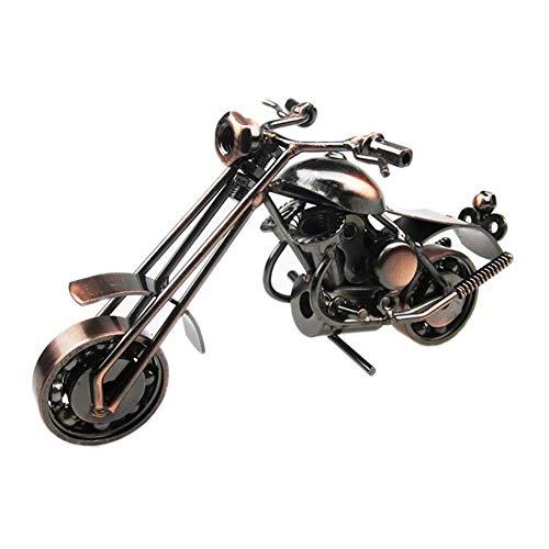 erddcbb Decoración de Modelo de Motocicleta, Escultura de Estatua de Motocicleta de Hierro, decoración de gabinete de Vino de Estudio de Sala de Estar, Recuerdo 15 * 6 * 7,5 cm