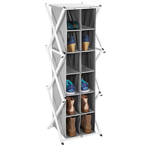 mDesign Mueble zapatero alto para el pasillo, armario o dormitorio –...