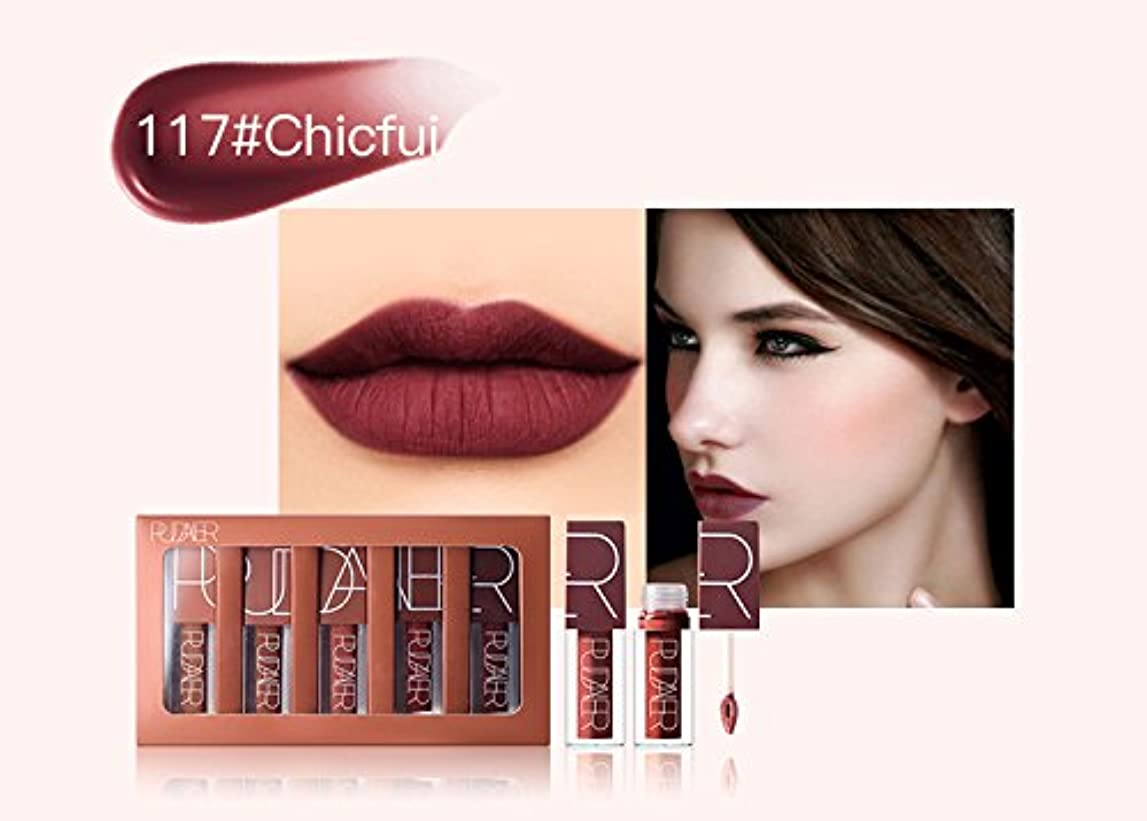 社会主義者致死ショッキングNo #117 Hot Brand Long Lasting Velvet Lips Tint Liquid Lipstick Matte Beauty Cosmetics Sexy Nude Pigment Matte Lip Gloss Tattoo Makeup