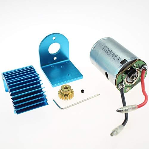 MeterMall Wltoys 12428 12423 1/12 RC auto-onderdelen 540 Motor 17T motor Reductiemotor Radiator Motorstoel 12428-0121 + 0088 + 0056 + XY12017