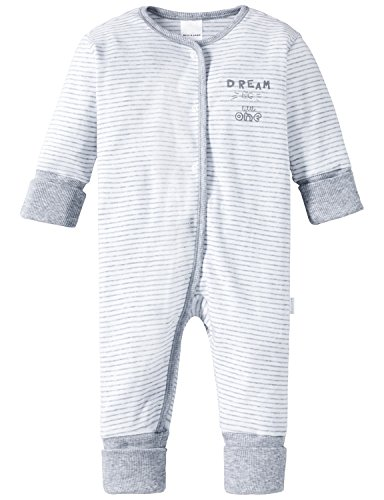Schiesser Baby-Jungen Anzug mit Vario Zweiteiliger Schlafanzug, Grau (grau-mel. 202), 80 (Herstellergröße: 080)