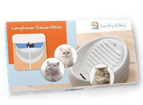 Lucky-Kitty Langhaar-Dauerfilter, Made in Germany mit Ökotex-100 Zertifizierung für geprüfte Schadstoff-Freiheit.