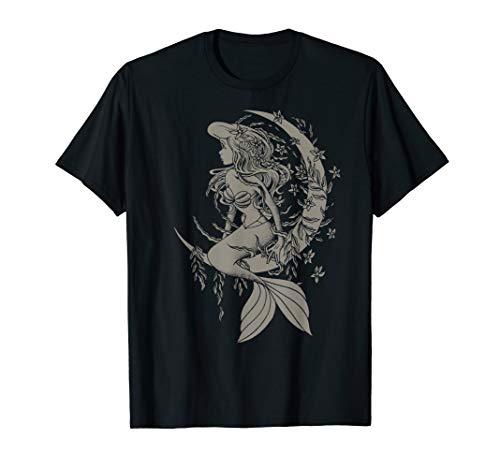 Disney The Little Mermaid Ariel Crescent Moon Sketch T-Shirt