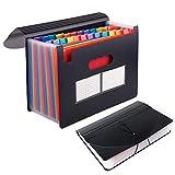 AODOOR Carpeta para documentos A4, 24 compartimentos, gran capacidad, bolsillo para documentos, carpeta de archivos, organizador de escritorio, organizador para el hogar o la oficina