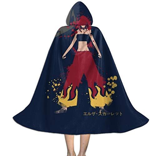 NUJSHF Erza Scarlet Spirit Fairy Tail Unisex Kapuzenumhang Umhang Umhang Umhang Umhang Umhang Halloween Weihnachten Party Dekoration Rolle Cosplay Kostüme