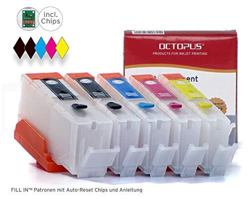 Octopus Fill In Patronen kompatibel für Canon PGI-550, CLI-551 mit Autoreset-Chip für Pixma MX 925, MX 720, MX 725, MX 920, IX 6850, IX 6800, MG 5400, MG 5450, MG 5500, IP 7200, IP 7250, MG 6400, MG 6450, MG 5550