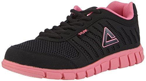 Peak Sport Europe Damen Strides Unisex Sneaker Hallenschuhe, Schwarz (Black/Pink), 35