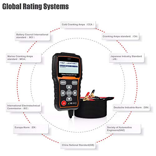 Best Prices! SHIJING BT705 12V 24V Battery Tester 100-2000 CCA Charging System for Cars Heavy Duty T...