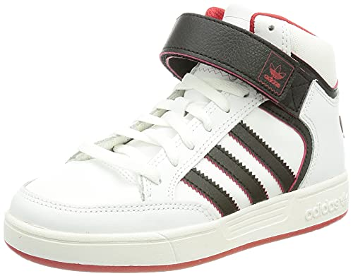 adidas Varial Mid J, Zapatillas de Skateboarding Unisex niños, Blanco/Negro/Rojo (Ftwbla/Negbas/Escarl), 30