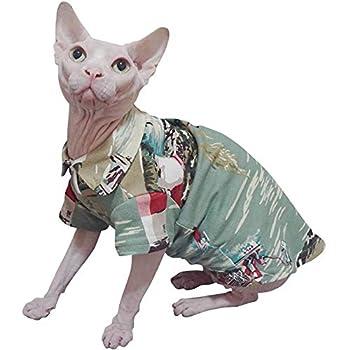 ZHIHAN Vêtements pour Chat Sphinx, T-Shirt en Coton Konigs, Confortable, Respirant et Anti-Chute, Couleur 1, XXXL