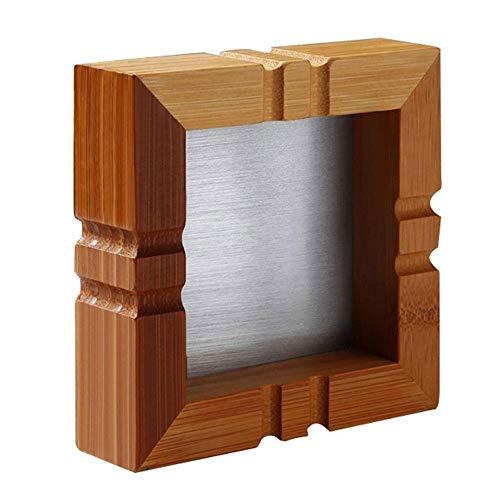 Hogar Ceniceros para Puros Cenicero - Medio Ambiente Natural de la Salud de bambú cenicero cuadrado, hermosas decoraciones de mesa for la oficina en casa Cafés Bares, 14x4cm para decoración en el hoga