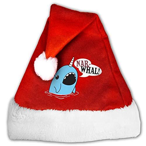 Good Vibes Only - Gorro unisex de Papá Noel, cómodo, color rojo y blanco, de terciopelo para fiesta de Navidad