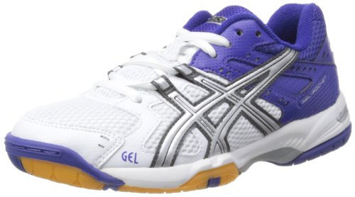 Asics ASICS Damen Gel-Rocket W Hallenschuhe, Weiß (White/Lightning/royal Blue), 41 EU