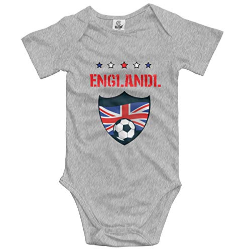 England 2019 World Football Baby Onesies,Unisex Solid Multicolor Baby Bodysuits 0-24 Months