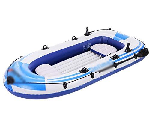 SANON Canotti, Barca di Gomma ispessite, Barca da Pesca Gonfiabile, Canotto Pneumatico Zattera in Barca WTZ012 (Color : Blue)