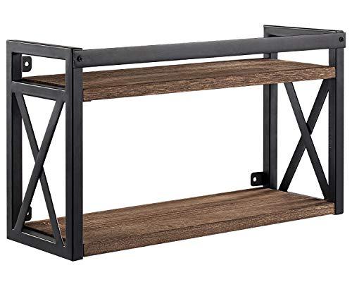 SODUKU Floating Shelves Wall Mounted Wood Storage Display Shelves for Bedroom Bathroom Kitchen, 24