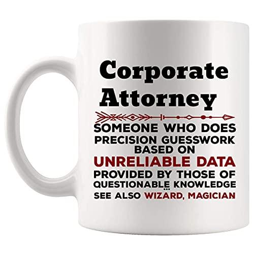 N\A Regalo Divertido de la Taza del Abogado corporativo - Taza de café de 11 oz de la facultad de Derecho - Los Mejores Regalos para Hombres, Mujeres, Camisetas, Tazas, Tazas