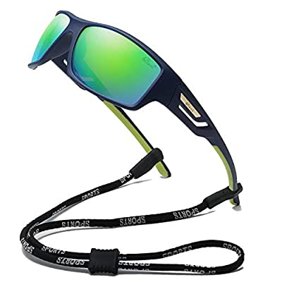 Bevi Polarized Sports Sunglasses TR90 Unbreakable Frame for Men Women Running Cycling Baseball 2518C3