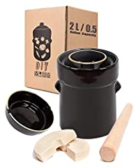 Fermentation crock is a traditional way of fermenting vegetarian food Fermentation Crock can hold up to 3.5kg (8lb) of vegetables. Preserve fresh vegetables in season and enjoy the flavors year round.Buying our Fermentation Crock Jar with Cabbage Tam...