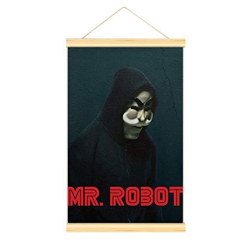 WPQL Mr Robot Temporada Sala de estar Arte Moderno Colgante Cartel Decorativo Mural Arte Clásico Póster 30 x 45 cm