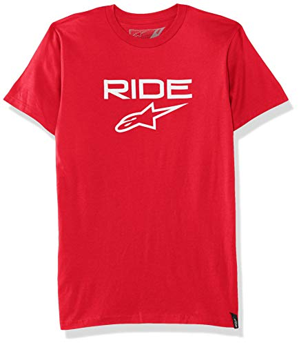 Alpinestars Ride 2.0 Tee t-Shirt Logo Manches Courtes Coupe Moderne Homme Ride 2.0 Tee Red/White FR: M (Taille Fabricant: M)