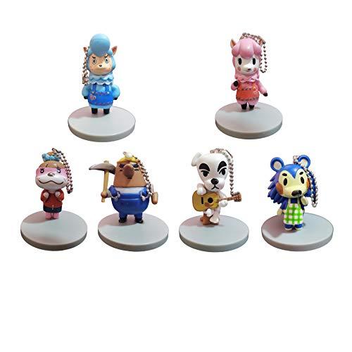 Juego llaveros Animal Crossing Un Conjunto de 6 llaveros Animal Crossing Periférico Mapache Klilian Monedero Llavero KK muñeca de Juguete muñeca Sen Youhui Colgante