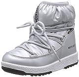 Moon-boot Jr Girl Low Nylon WP, Stivali da Neve Bambini e Ragazzi, Argento (Argento 002), 34 EU