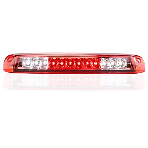 3rd Brake Light for 1999-2007 Chevrolet Silverado/GMC Sierra 1500 2500HD 3500 Third Cargo Lamp High Mount Stop Light Reversing Light (Red Lens)