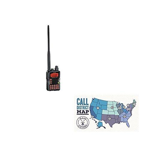 Yaesu VX-6R 2M/70CM 5W 220 1.5W Dual Band HT and Ham Guides TM Pocket Reference Card Bundle