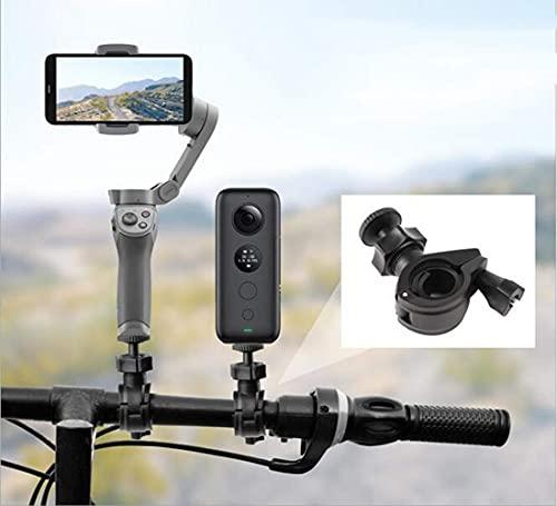 Fenmaru Soporte para Bicicleta para cámara Deportiva/Soporte para Pocket 2 / FIMI Palm 2 / Insta 360 One X2 / X/OM 4/3/2 Cámara Deportiva panorámica