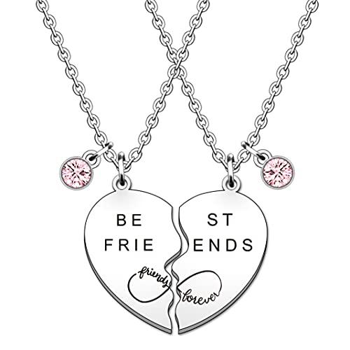SMARGO 2 PCS Puzzle Heart Best Friend Necklaces For Girls Women Best...