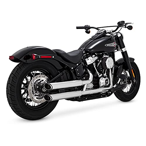 Vance & Hines Chrome Twin Slash 3-Inch Slip-ons for 2018-Newer Softail...