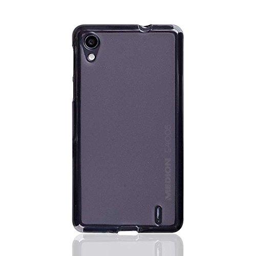 caseroxx TPU-Hülle für Medion Life E4005, Handy Hülle Tasche (TPU-Hülle in schwarz-transparent)