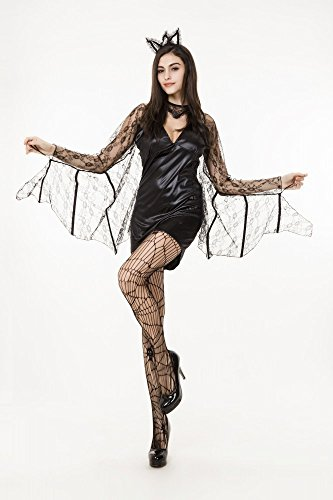 shoperama Disfraz de maz sexy para mujer con punta, diseo de vampiro Drcula Halloween, talla: S/M