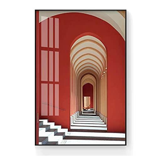 Imágenes de Lienzo 30x40 cm 1 Piezas SIN Marco Espacio estéreo de construcción Urbana Arte Mural Papel Tapiz Cartel de Lienzo paraSalade EstarDormitorio Decoración del hogar