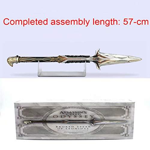 AWS Assassin's Creed Odyssey- Broken Spear of Leonidas Onidas 'Speer 9. Generation Ärmel Ubisoft Cosplay Ärmel Schwertzepter 23-inch