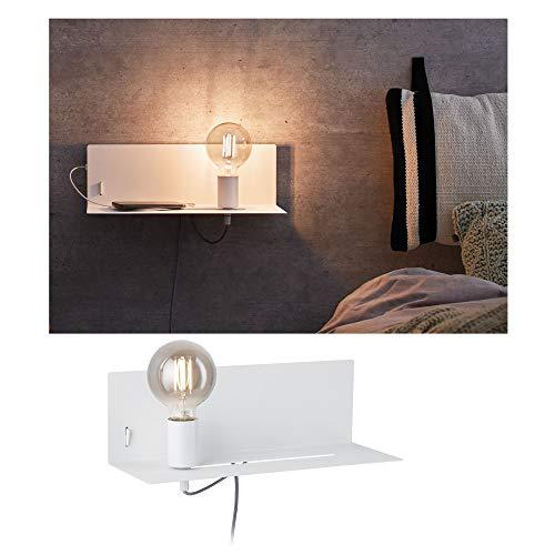 Paulmann Devara Wandlamp met plank, max. 40 watt wandleeslamp leeslamp metaal wandlamp E27