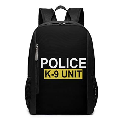 Police K-9 Unit School Rucksack College Bookbag Lady Travel Backpack Laptop Bag for Boys Girls