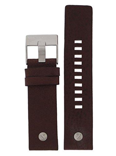 Diesel Correa de reloj intercambiable LB-DZ7335, correa de repuesto original DZ 7335, piel 24 mm, marrón