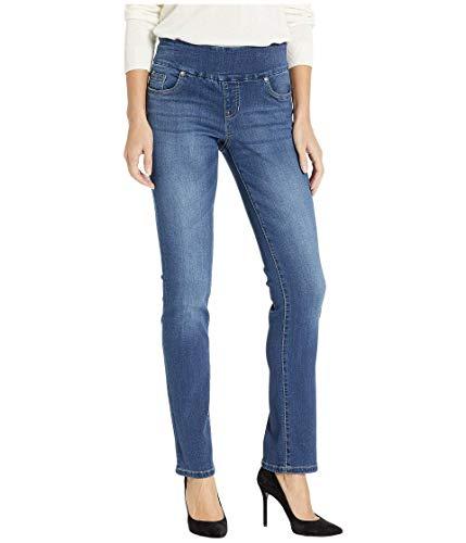 "Jag Jeans Penny Straight Pull-On Jeans in Dark Wash Dark Wash 0 (25"" Waist) 33"
